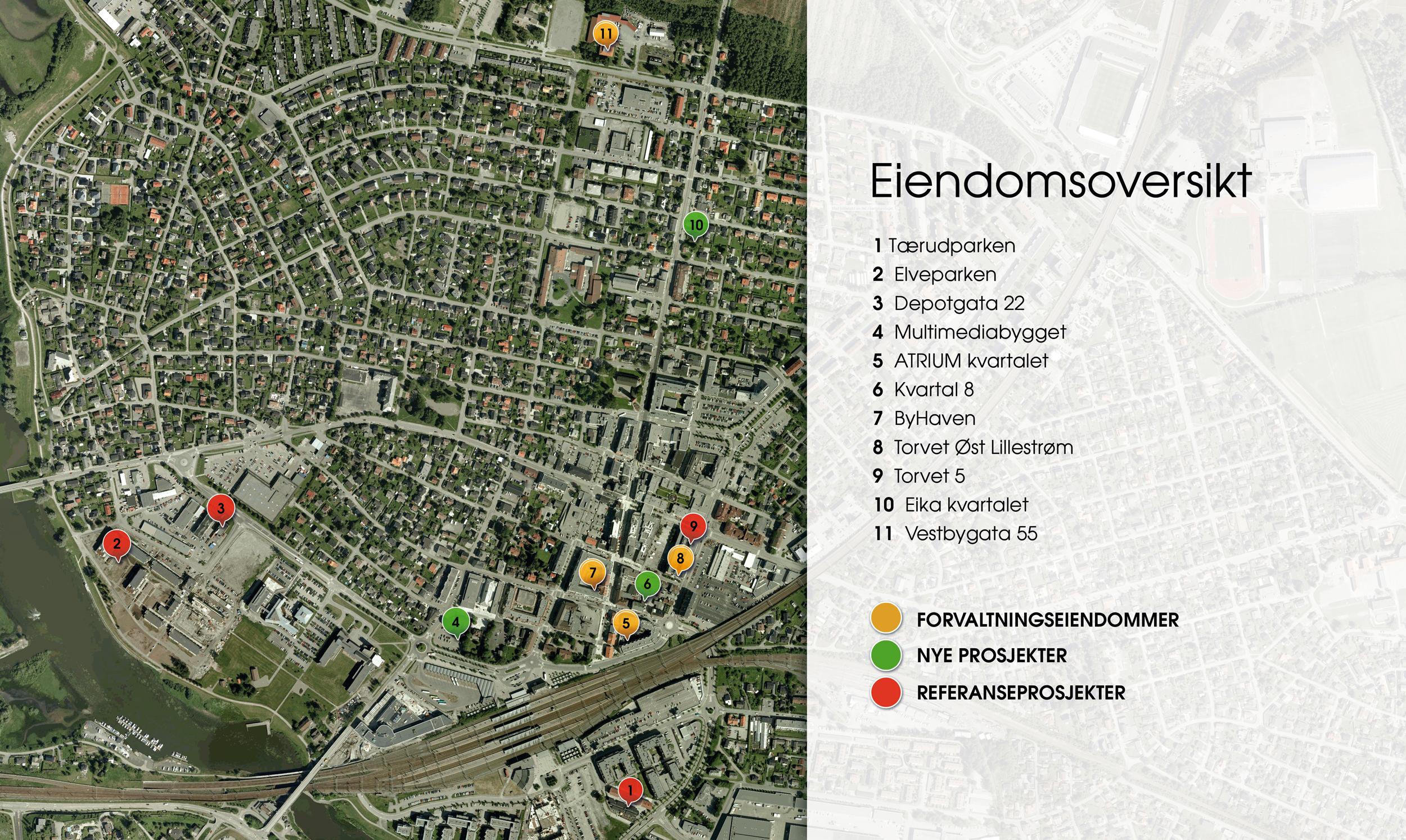 Kart over eiendom
